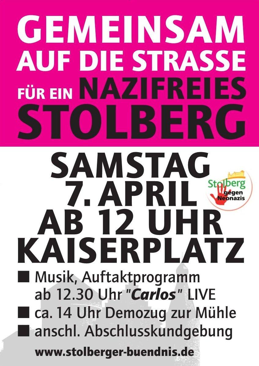 Gemeinsam auf die Strasse für eine nazifreies Stolberg